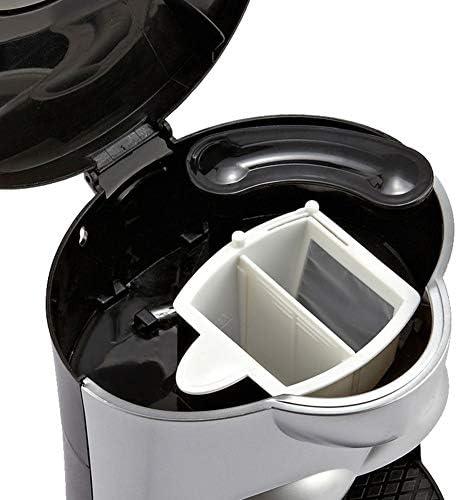 QZKFJ Machine à Expresso, Machine à café Goutte à Goutte Machine à café Accueil Bureau Commercial Tenir 5 Tasses Peut (Noir)