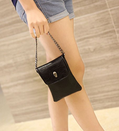 Money Black Body Card Woman Satchel Liying Casual Storage Skull Shoulder Bag Pockets Purse cross Cellphone xBwa41q