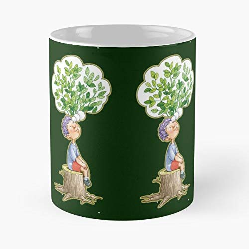 (Hope Planet Future Tree Coffee Mugs Unique Ceramic Novelty Cup)