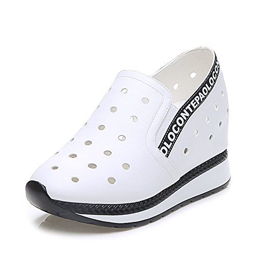 ZPPZZP Ms sandali estate spessa confortevoli e in stile minimalista bianco 37EU