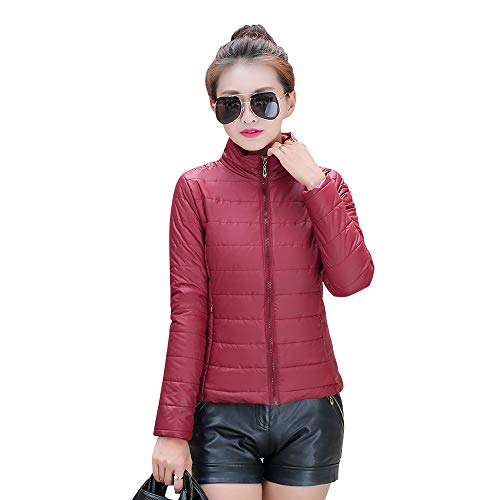 Fashion Jacket Jacket Down Size Plus Womens Coat YIHIGH Red Short Outdoor Outerwear Dark qHawxzn0