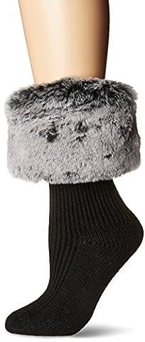 UGG Women's Faux Fur Cuff Short Rainboot Sock, Charcoal, O/S - Faux Ugg Boots