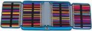 Monoshop 150 Holders Pencils Case - Waterproof Oxford 4 Layer Pencil Bag Pencil Holder School Supplies