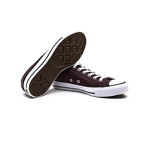 Converse Chuck Taylor All Stars Ox Leather Shoes Deep Bordeaux