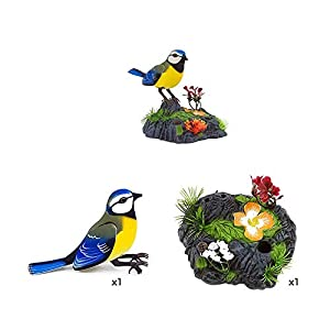 RB Singing and Chirping Bird Animal Simulation Induction Smart Voice-Activated Bird Toy, Voice Control Realistic Sounds…