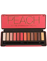 BYS Peach Eyeshadow Palette Tin with Mirror Applicator...