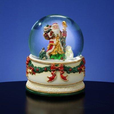 The San Francisco Music Box Company Holiday Treasures Christmas Journey Snow Globe - Francisco Glass Music Box