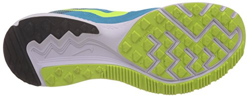 Nike Zoom Winflo 2 - Zapatillas de running unisex, color azul / amarillo / negro / blanco