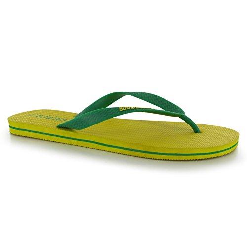 Sommer Flop Sandalen Herren Schuhe Flip Strand Zehentrenner SoulCal Gelb Cal qYSwCCA