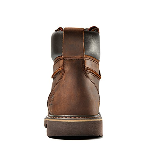 Msoar Z.suo Mens Ursprungliga Läder Snörning Militär Strids Arbete Desert Boot Brown