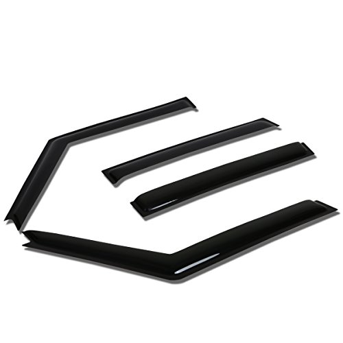 For Land Rover Discovery 2 L318 4pcs Tape-On Window Visor Deflector Rain Guard