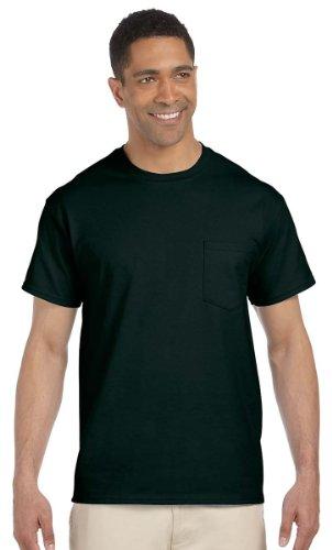 Gildan Ultra Cotton 6 Oz. Pocket T-Shirt, XL, Forest Green