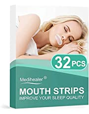 Medihealer 32PCS Sleep Strips, Mouth Strips for Mouth Breathers for Better Nose Breathing&Less Mouth Breathing,Mouth Tape for Snoring Relief,Gentle Sleep Mouth Tape for Good Sleep&Dry
