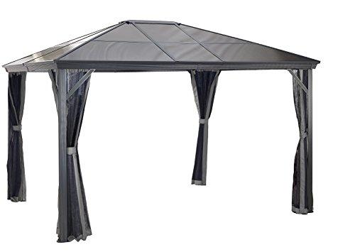 Sojag Verona Sun Shelter, 10' x 12', Charcoal (Patio Verona Furniture)