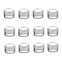 5G Plastic Travel Cosmetic Sample Containers-Empty Jars Small Round Bottles Face Cream Lip Balm Cosmetic Lotion Pot (Transparent)(25PCS)