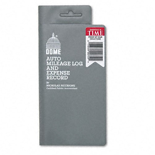 Dome : Mileage Log/Expense Record, 3-1/2 x 6-1/2, 140-Page Book -:- Sold as 2 Packs of - 1 - / - Total of 2 Each by DomeSkin
