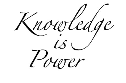 Knowledge Is Power Quote | Amazon Com Yingkai Knowledge Is Power Inspirational Quote Vinyl