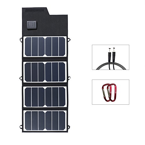 ELEGEEK 26W High Efficiency Folding Solar Panel Charger Built in icGEEK Fast Charging with USB + DC Output (26W 5V/12V) by EleGeek