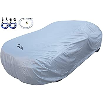 XCAR Solar Shield Universal Breathable UV Protection Car Cover Fits Cars Up To 200 Inch In Length-With Cable Lock