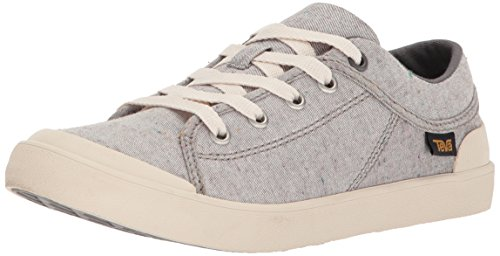 Teva Womens Women's W Freewheel Slubby Canvas Sneaker, Dark Grey/Multi, 9 M US