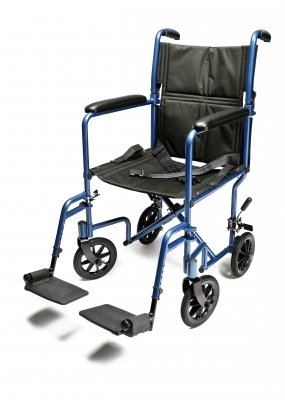 Graham-Field Health EJ784-1  W/C Trans Chair Silvr Alum 19'' E&J