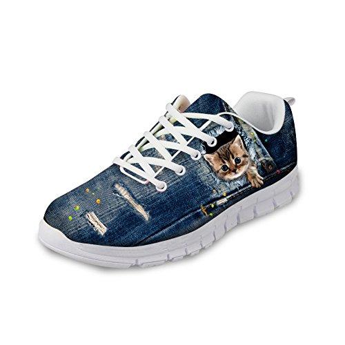 Bigcardesigns Sneaker Di Design Simpatico Gatto Per Uomo Donna Adolescente 44