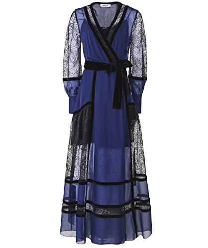 Dvf Dress Silk Wrap (Diane von Furstenberg Women's Silk Forrest Wrap Dress Navy US 8)