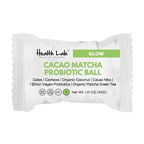 Cacao Matcha Probiotic Protein Balls by Health Lab | Restore Healthy Gut & Increases Energy | Non-GMO, Non-Soy, Dairy and Gluten-Free | 12-pack Review