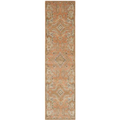 Safavieh Wyndham Collection WYD203A Handmade Terracotta Wool Runner, 2 feet 3 inches by 11 feet (2'3 x 11′)