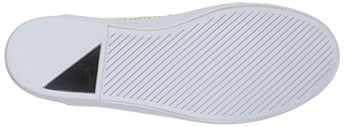 Lacoste Women's Cherre 216 1 Flat, Off White/Black, 10 M US