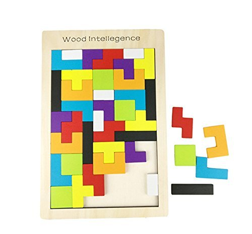(Etmact Wooden Puzzle Toy, Can Train Children's Mental Tetris Puzzle 40 Pcs)