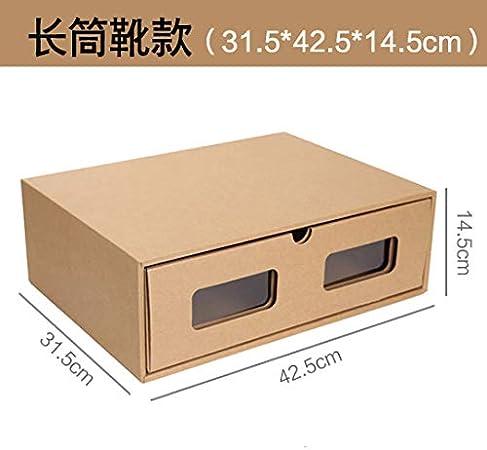 LiuGongSi Cajón Zapatero para Hombre y Mujer, Caja de Almacenamiento Transparente para Zapatos, Caja de Almacenamiento con Acabado de Papel Kraft Verde Grueso, Botas largas, 2 x 2 x 2 mm: Amazon.es: Hogar