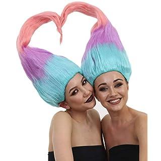 Wig for Cosplay Adult Women Twin Trolls Style HW-1438 / HM-178