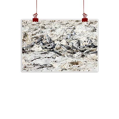duommhome Light Luxury American Oil Painting Marine Waders Arabian sea Canvas Wall Art 24