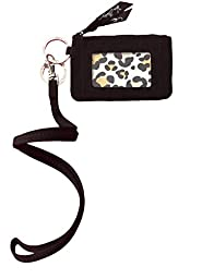 Vera Bradley Zip Id Case and Lanyard in Classic Black