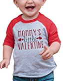 7 ate 9 Apparel Boy's Mommy's Little Valentine Toddler Vintage Baseball Tee 2T Red and Grey