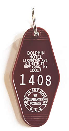 The Dolphin Hotel Inspired Key Tag White and Plum Room # 1408
