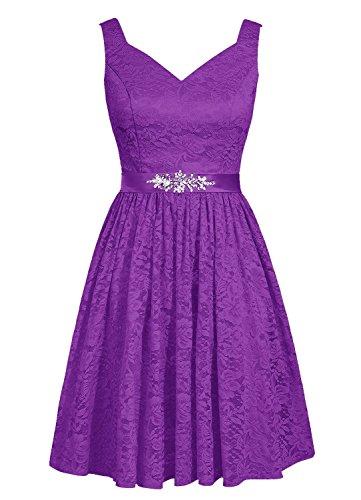 Buy beautiful short purple dresses - 1