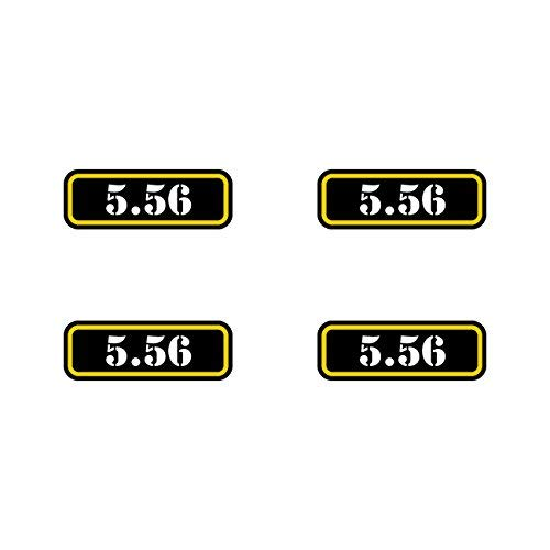(4X) 5.56 Ammo Can Sticker Set Decal Molon Labe Bullet 556 Type 2 Vinyl Made in USA