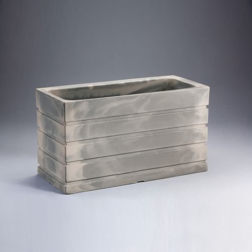Latin Spirit EP-LSLIM-GRE-4820 48 x 20 x 26 in. Lima Rectangular Planter44; Greystone by Latin Spirit