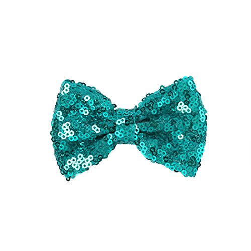 XIMA 25pcs Sequin Hairbows With Alligator Clips Baby Girl Hair Accessory 3'' Glitter Bows Toddler Hair Clip Sparkly Fabric Hair Bows for Kids Teens Toddlers Children by XIMA (Image #6)