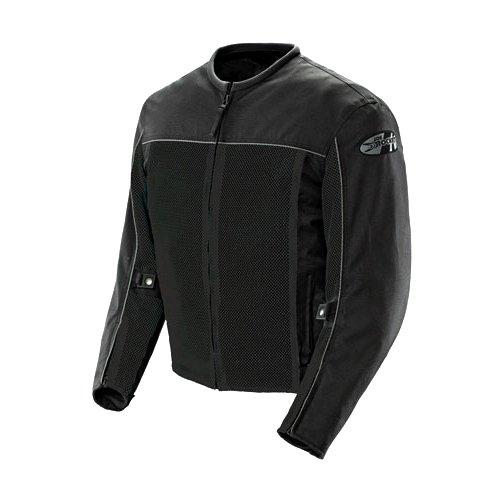 Joe Rocket 'Velocity' Mens Black Mesh Motorcycle Jacket - Black / Medium
