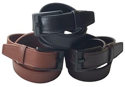 Ferrer Men's Leather Metal-free Belt: Black, Brown or Dark Brown