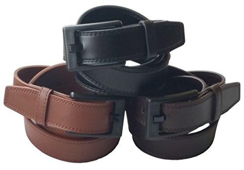 Ferrer Mens Leather Metal-free Belt: Non metal: Airport: TSA: Nickel free: Hypoallergenic