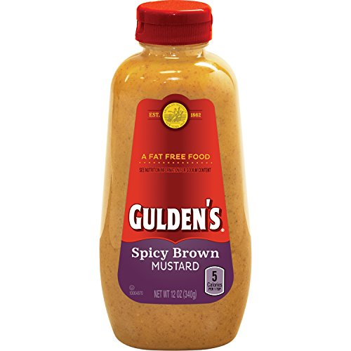 Gulden's Spicy Brown Mustard, 12 (Spicy Mustard Sauce)