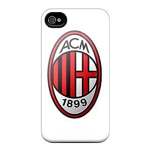 MansourMurray Iphone 4/4s High Quality Hard Phone Covers Custom High-definition Ac Milan Pattern [MvO10458JZFE]