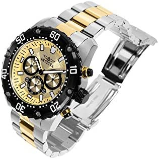 Invicta Men s Pro Diver Quartz Watch with Two-Tone-Stainless-Steel Strap, 24 Model 22519