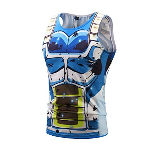 Men's 3D Compression Shirt Skin Tight Cartoon Printing Vest -