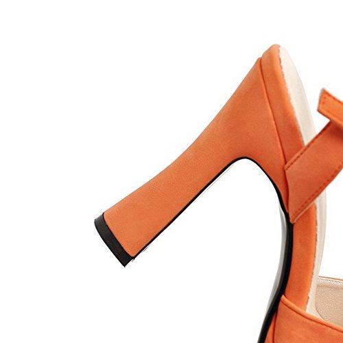 Orange Femme Ouvert Bout SLC04102 AdeeSu CXqwpRx