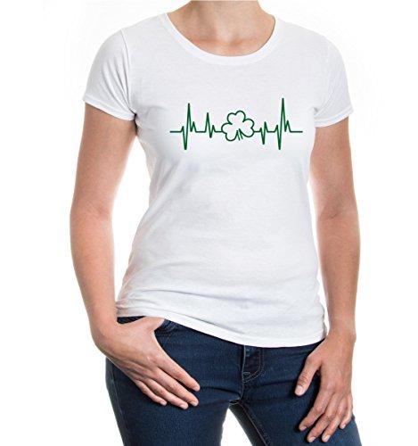 Girlie T-Shirt Frequency-Shamrock White